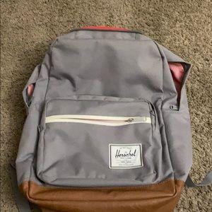 Herschel grey backpack with computer space